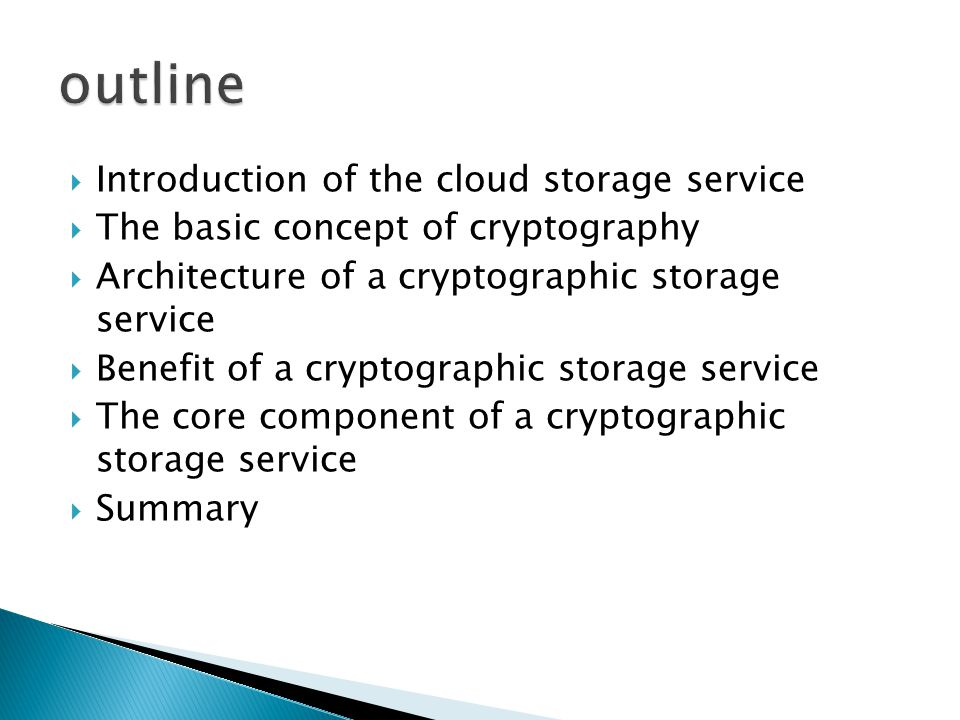  Asymmetric searchable encryption (ASE)  Many writer /single reader (MWSR)  based on symmetric primitives  Without any token the server learn nothing about the data except its length  Given a token with keyword w, the provider learn which document contain w Disadvantage : the token w can be learned Disadvantage : the token w can be learned