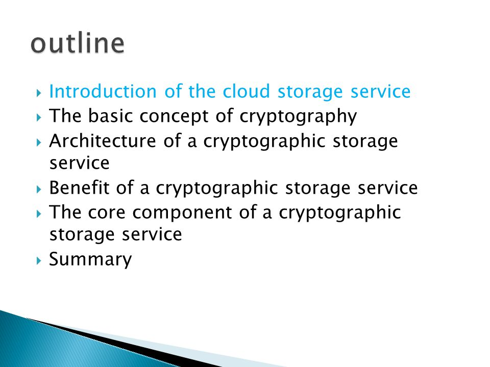  Cloud infrastructure can be categorized as private or public  Benefit of public storage service : availability reliability efficient retrieval data sharing