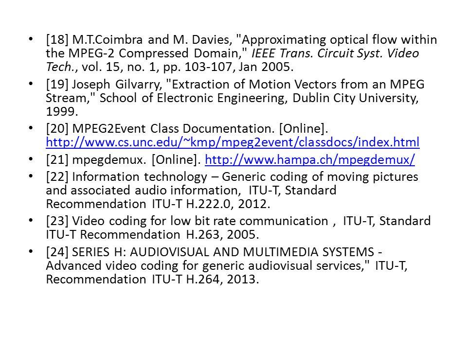 [18] M.T.Coimbra and M. Davies,