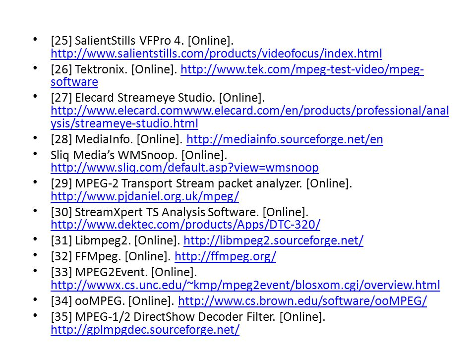 [25] SalientStills VFPro 4. [Online]. http://www.salientstills.com/products/videofocus/index.html http://www.salientstills.com/products/videofocus/ind