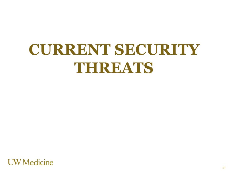 CURRENT SECURITY THREATS 11
