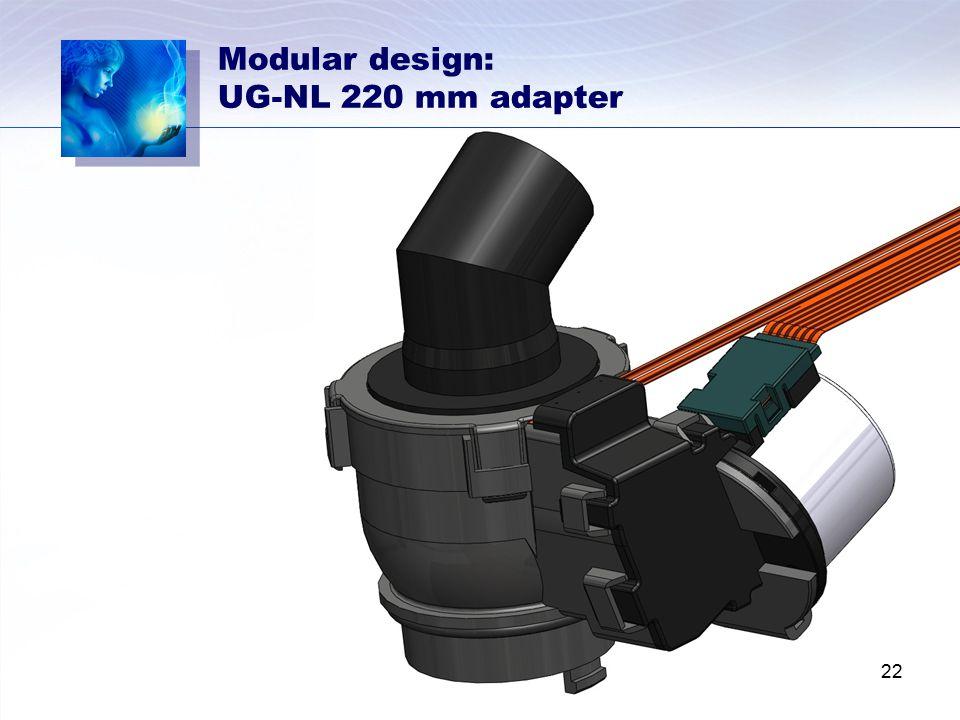 Modular design: UG-NL 220 mm adapter 22