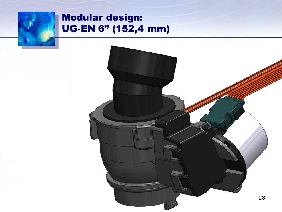 """Modular design: UG-EN 6"""" (152,4 mm) 23"""