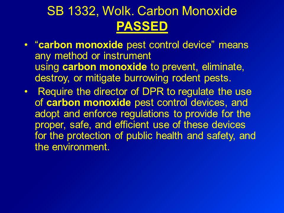 SB 1332, Wolk.
