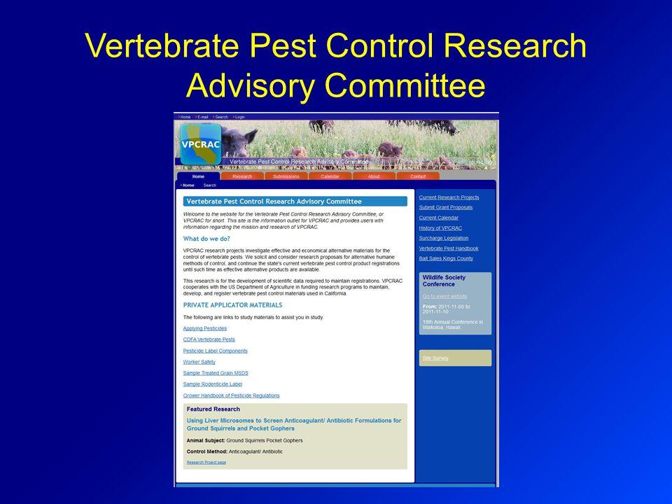 Vertebrate Pest Control Research Advisory Committee