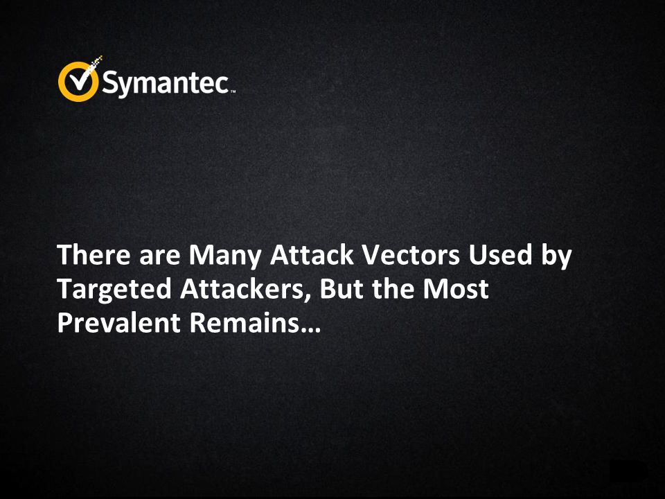 There are Many Attack Vectors Used by Targeted Attackers, But the Most Prevalent Remains…
