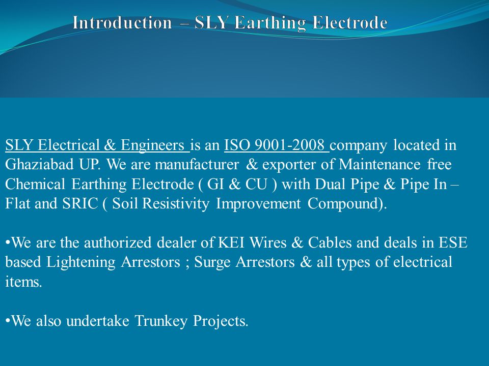 SLY Electrical & Engineers is an ISO 9001-2008 company located in Ghaziabad UP.