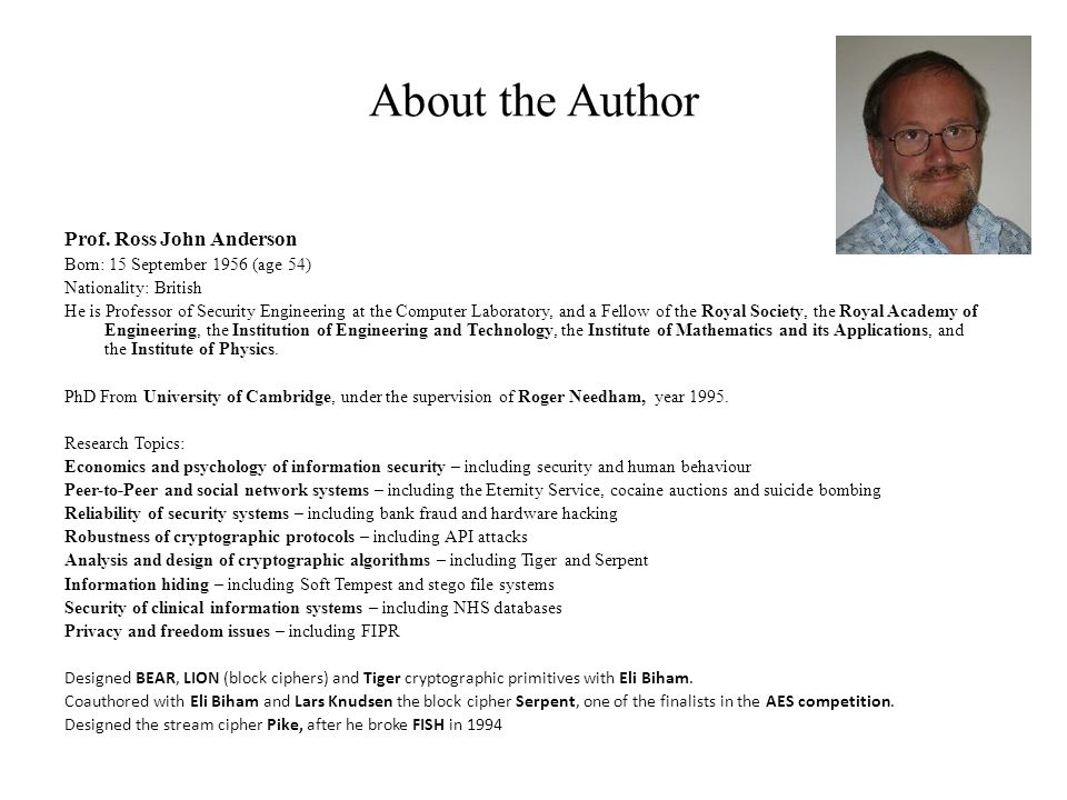 About the Author Prof.