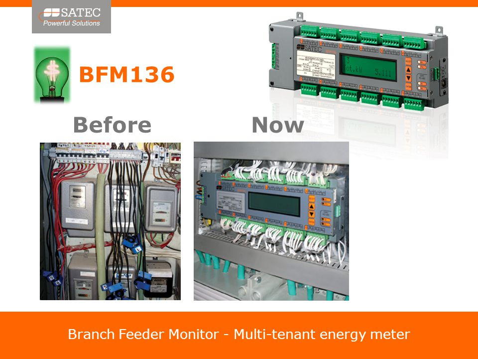 BFM136 Before Now Branch Feeder Monitor - Multi-tenant energy meter