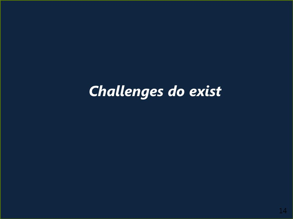 14 Challenges do exist