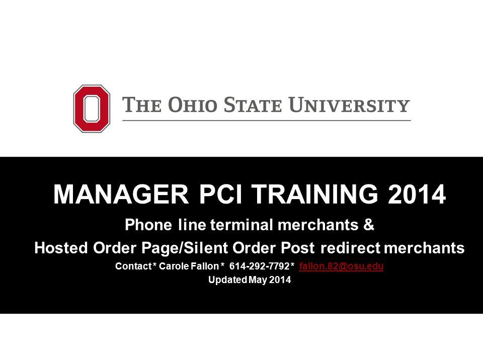 Terminal Merchants Manager Responsibility Checklist.