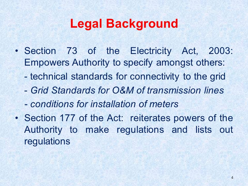 Standards for Connectivity- Transmission Line and Sub-Station Bus bar protection on all sub-stations at and above 220 kV for all new sub-stations.