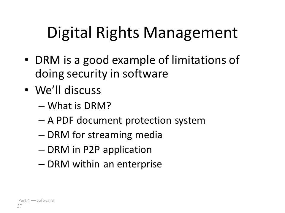 Part 4  Software 36 Digital Rights Management
