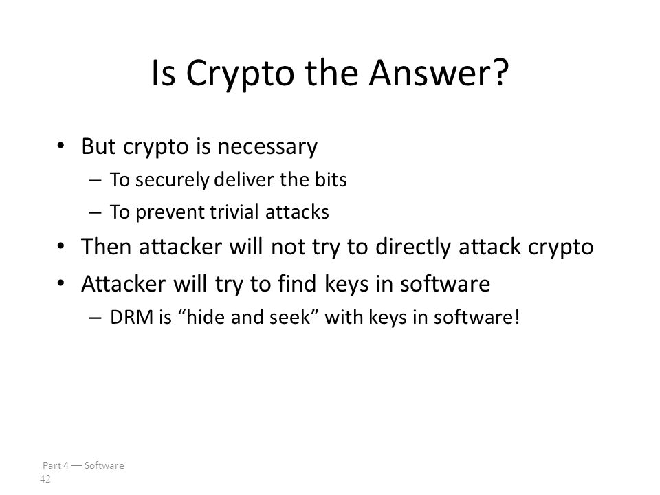Part 4  Software 41 Is Crypto the Answer.