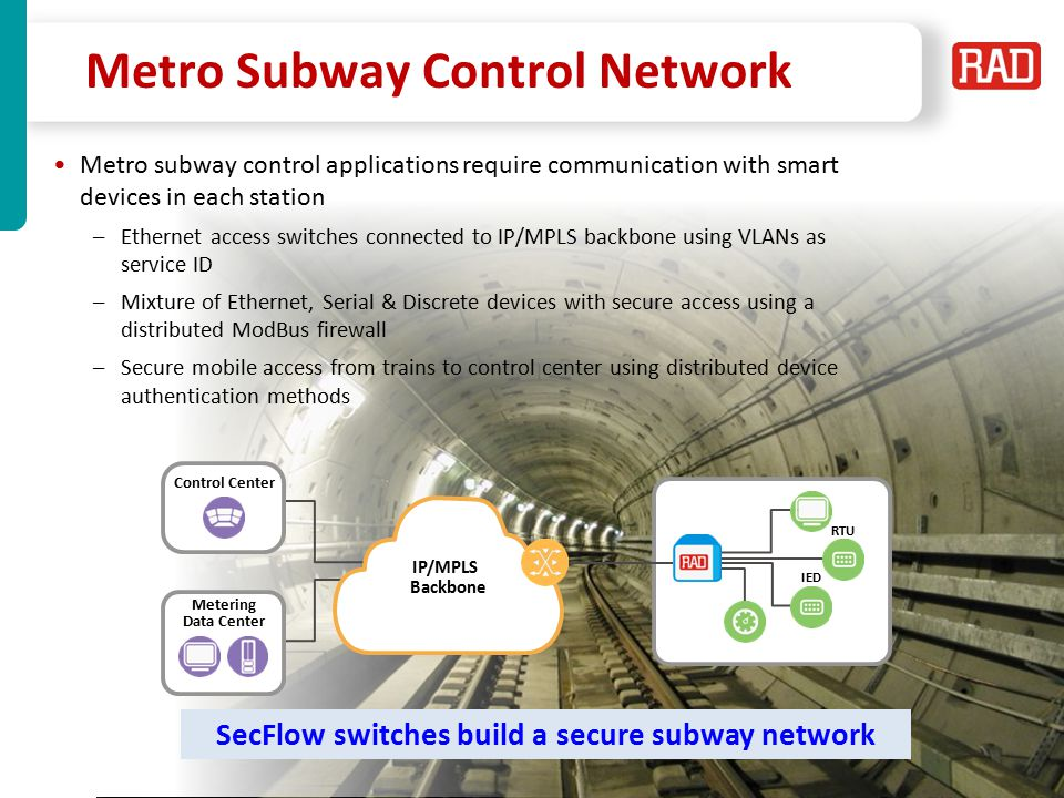 SecFlow2013 Slide 33 Smart/Safe City End Points Communication Compact Industrial switch for Smart/Safe-city cabinets –Ethernet with PoE –Serial and discrete I/O ports for simple automation devices –Diverse means of communication: Integrated dual-SIM cellular modem Fiber Optic with protected Ring Support (G.8032) SHDSL* –Integrated security mechanisms IPSec VPN SCADA firewall P2P & P2MP Radio FO Dual 2G/3G Communications WiFi* Tamper Switch RS-232 ETH PoE ETH Dry Contact Display Board SecFlow 2 *roadmap PSN