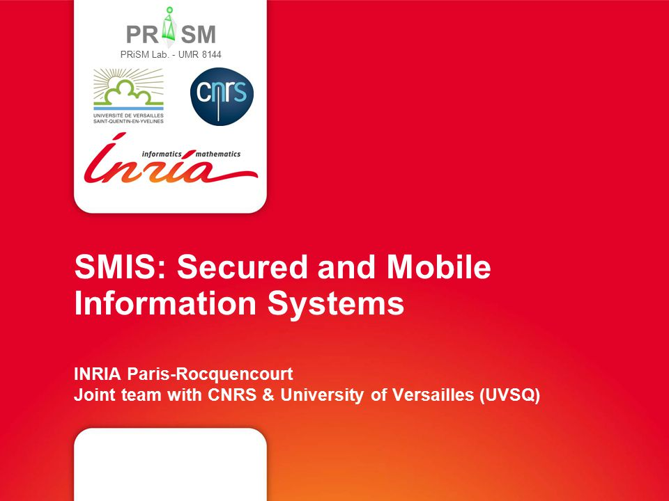 PR SM Background and research fields A Core Database Culture … Storage and indexing models, query execution and optimization Transaction protocols (atomicity, isolation, durability) Database security (access and usage control, encryption) Distributed DB architectures 3