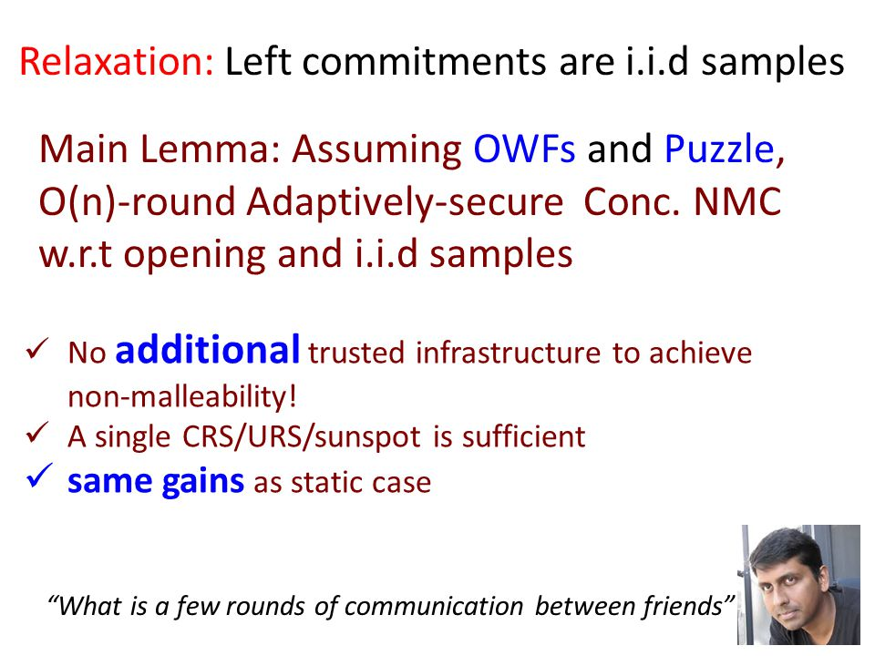 Main Lemma: Assuming OWFs and Puzzle, O(n)-round Adaptively-secure Conc.