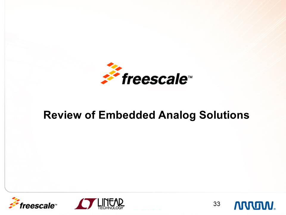 33 Review of Embedded Analog Solutions