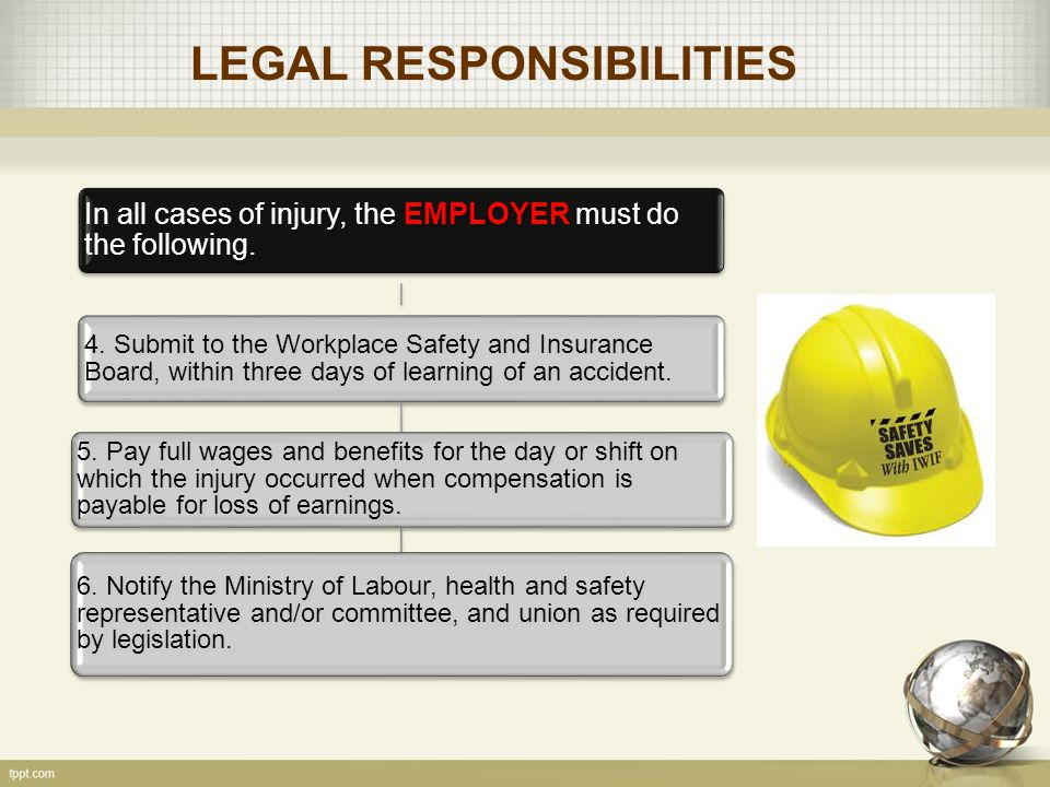 ACCIDENTS IMPACT Examples 8.Loss of production for remainder of the day.