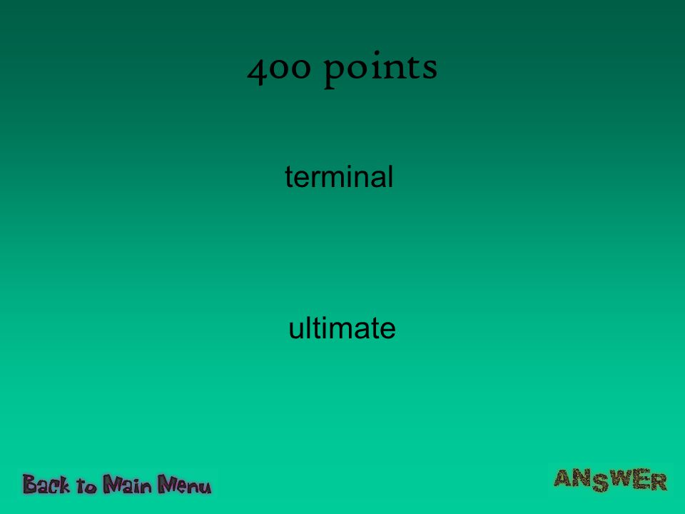 400 points terminal ultimate