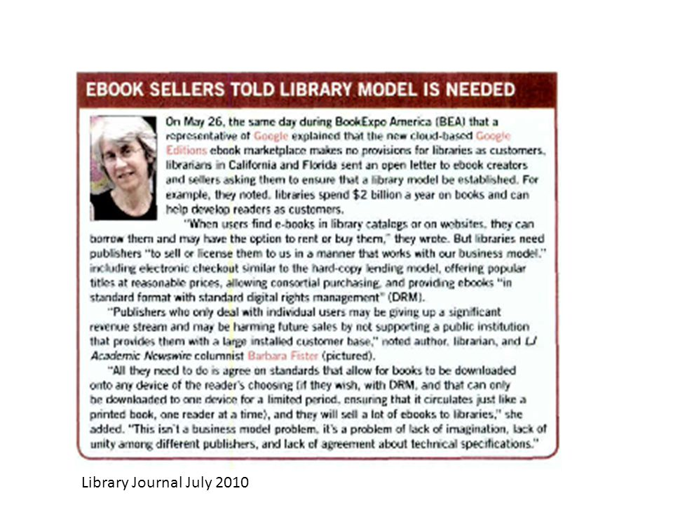 Library Journal July 2010