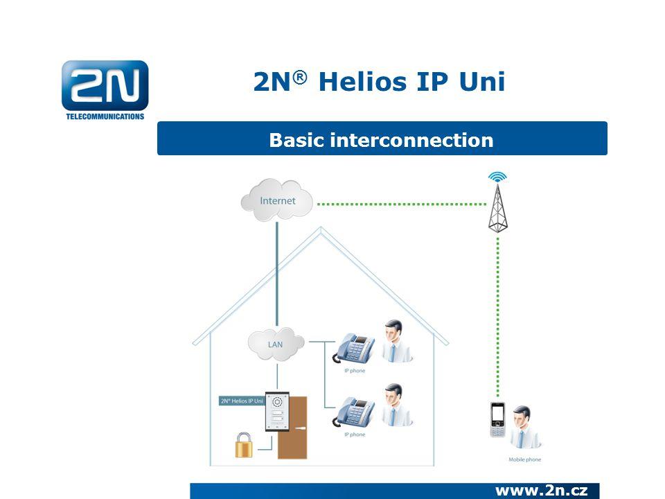 Basic interconnection 2N ® Helios IP Uni www.2n.cz