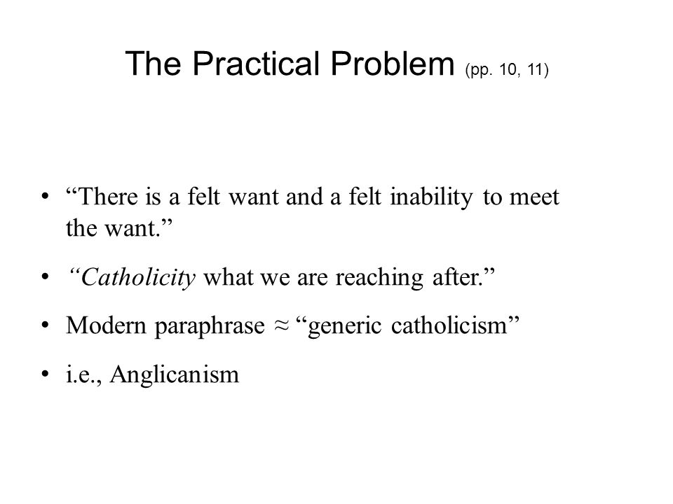 The Practical Problem (pp.