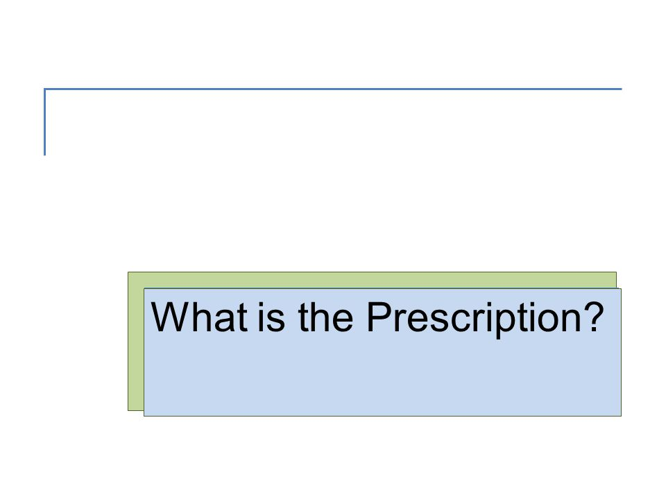 The Prescription  An order, by a licensed practitioner, for a medication.