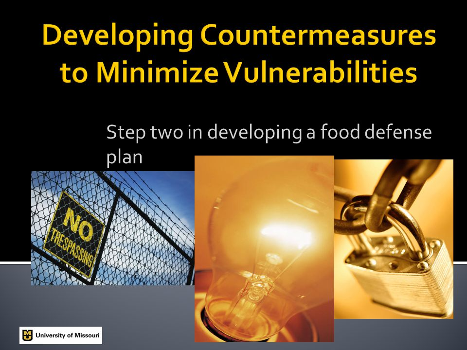Step two in developing a food defense plan
