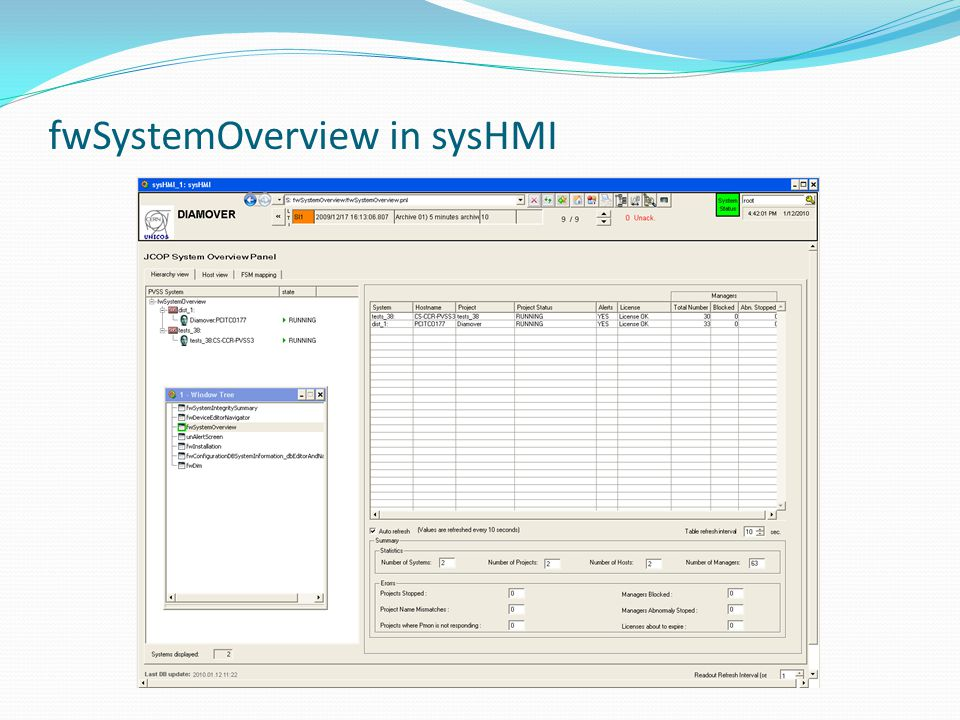 fwSystemOverview in sysHMI