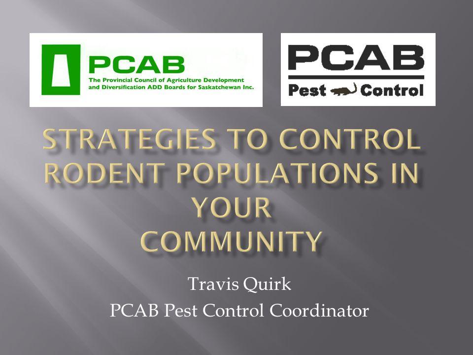 Travis Quirk PCAB Pest Control Coordinator