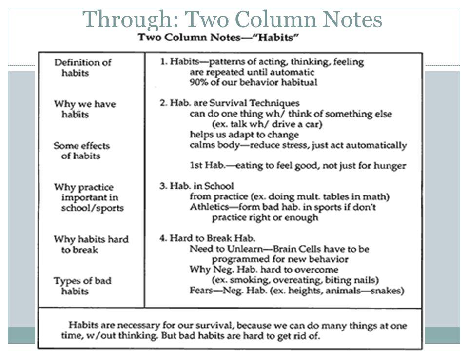 43 Through: Two Column Notes