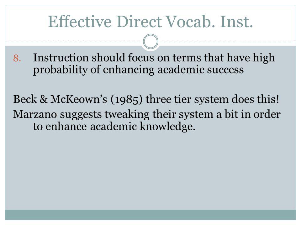 Effective Direct Vocab.Inst. 8.