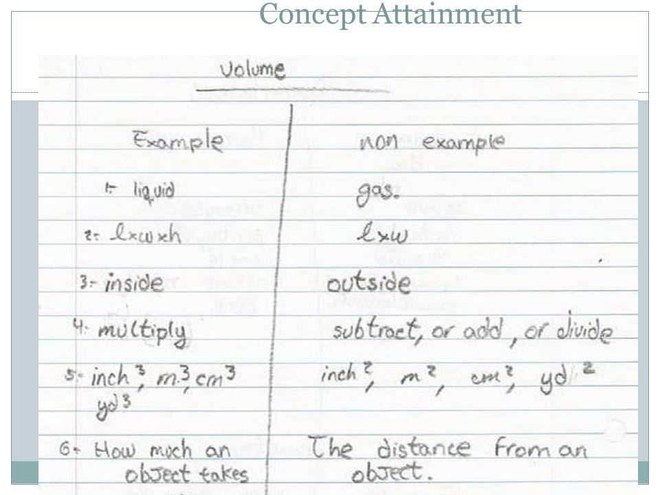 68 Concept Attainment