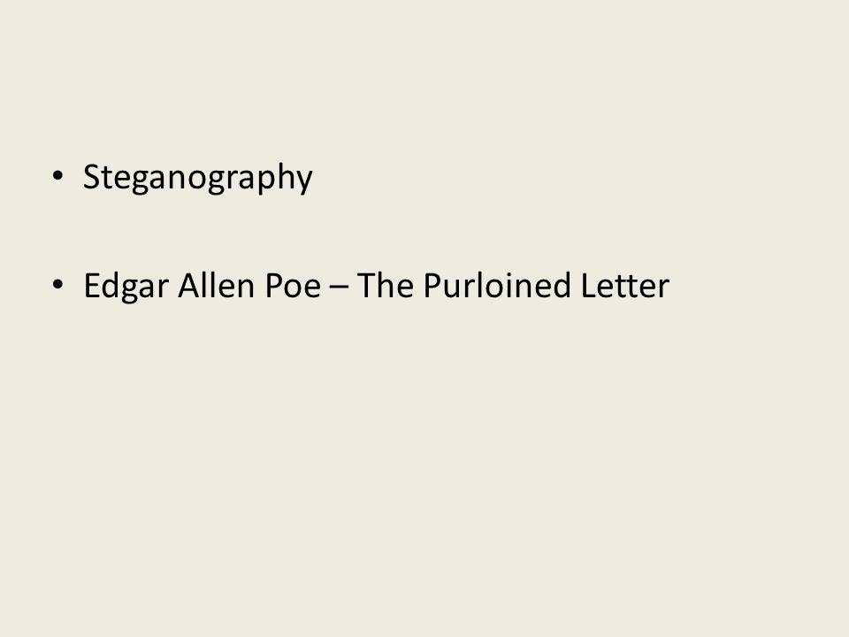 Steganography Edgar Allen Poe – The Purloined Letter