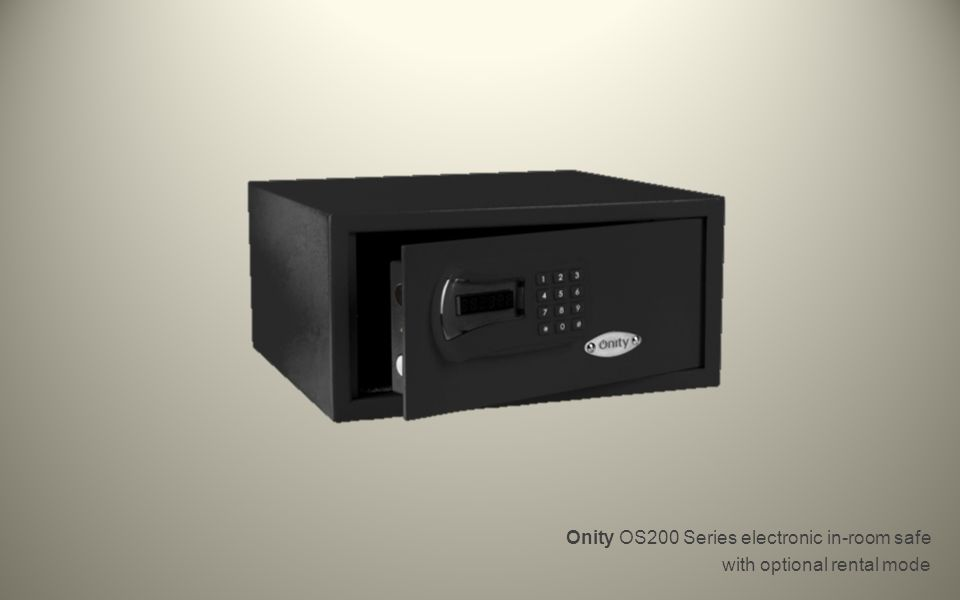 Onity OS200 Series electronic in-room safe with optional rental mode
