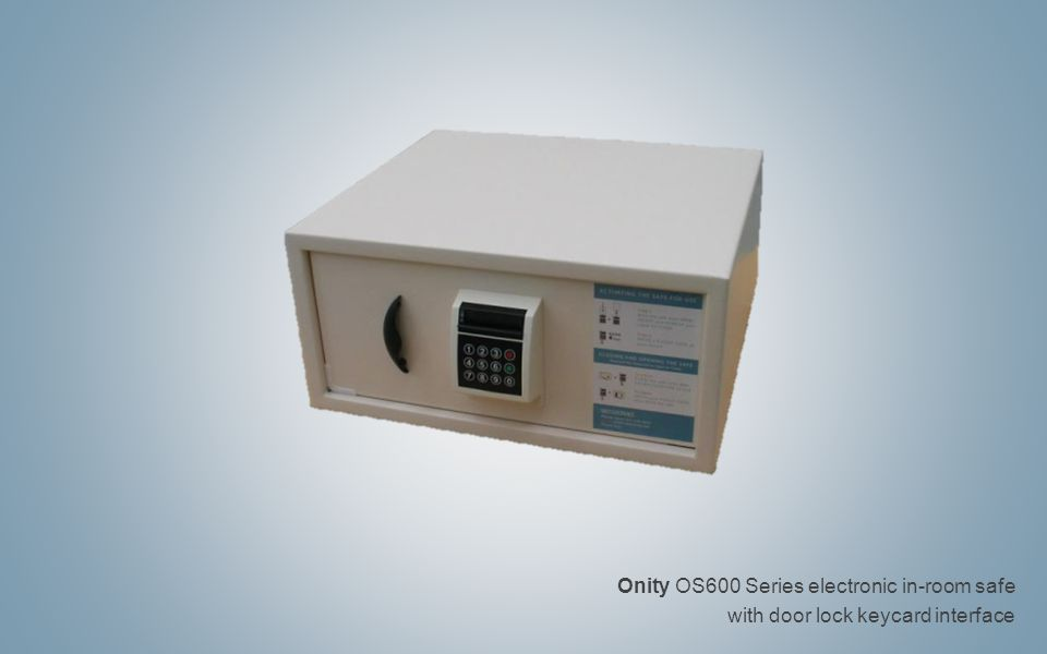 Onity OS600 Series electronic in-room safe with door lock keycard interface