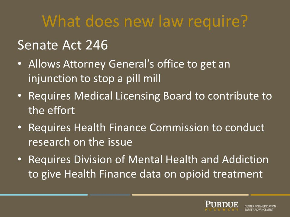 What does new law require.