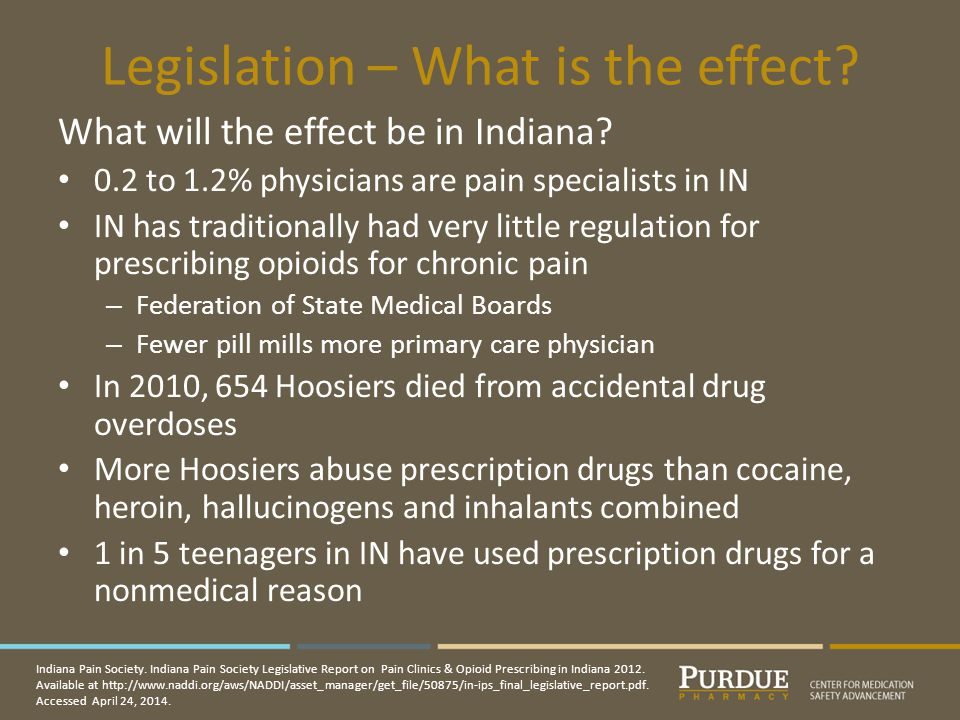 Legislation – What is the effect.What will the effect be in Indiana.