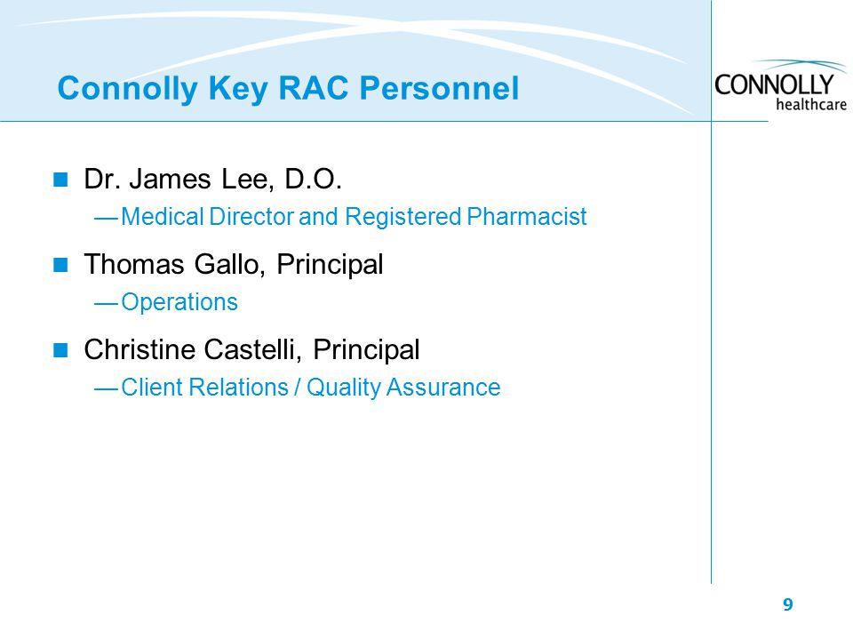 9 Connolly Key RAC Personnel Dr. James Lee, D.O.