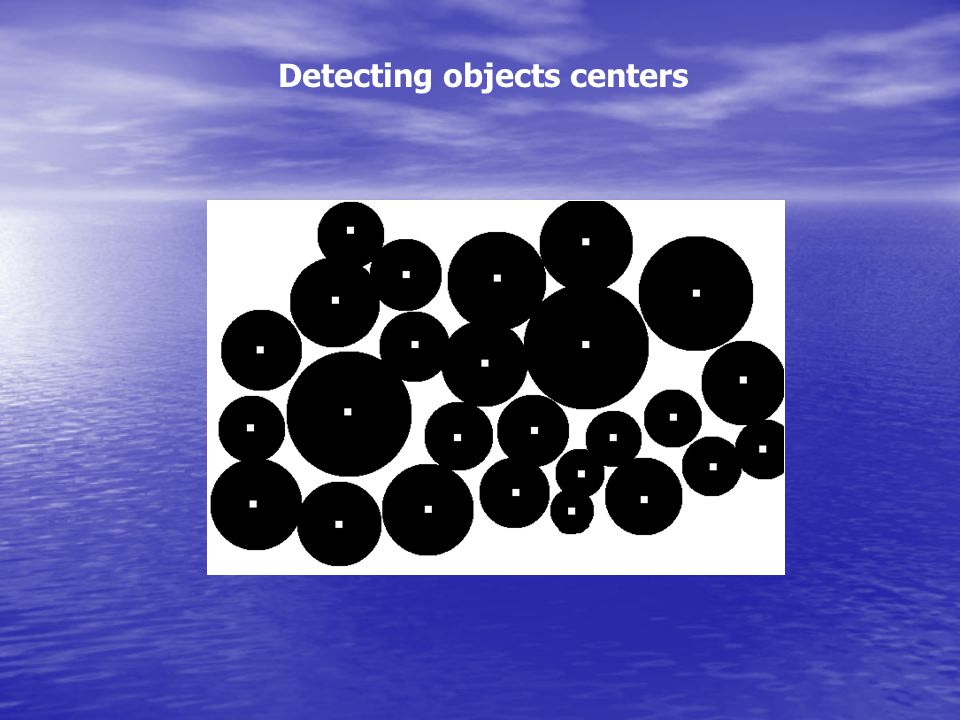 Detecting objects centers