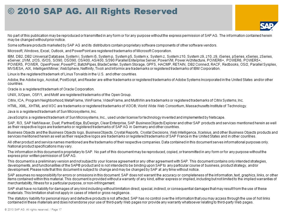 ©2010 SAP AG. All rights reserved.