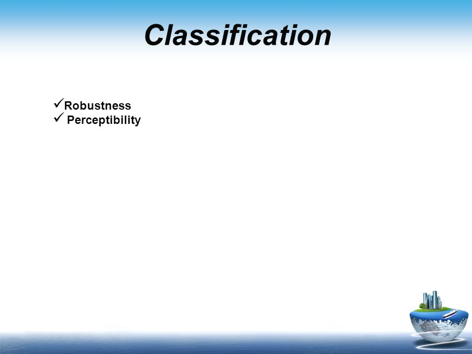 Classification Robustness Perceptibility