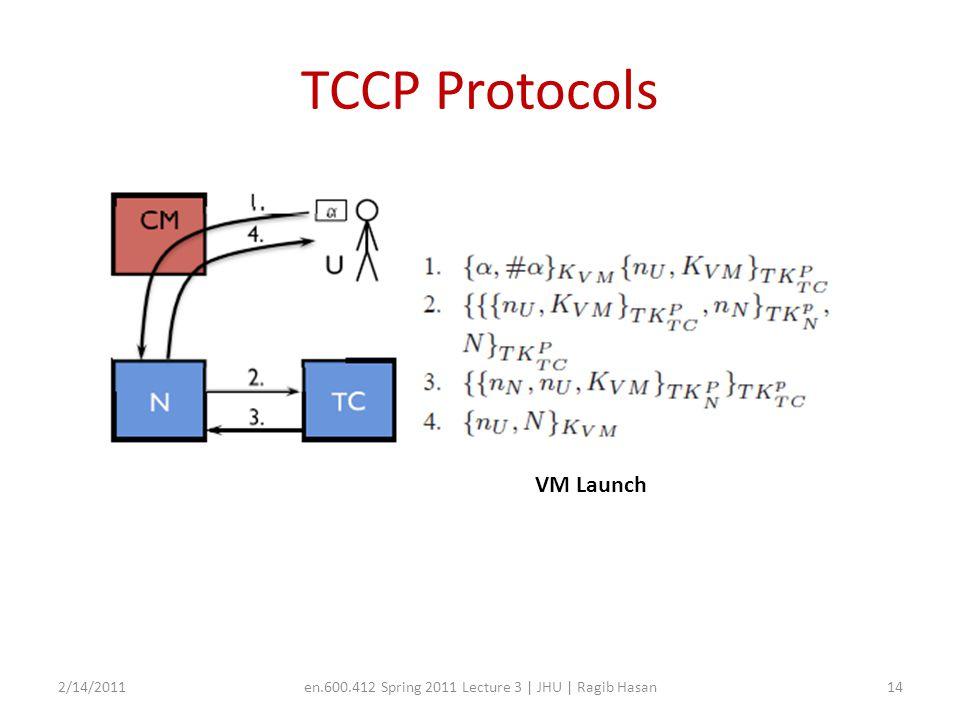 TCCP Protocols 2/14/2011en.600.412 Spring 2011 Lecture 3 | JHU | Ragib Hasan15 VM Migrate