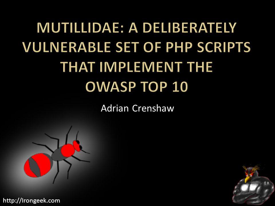 http://Irongeek.com Adrian Crenshaw