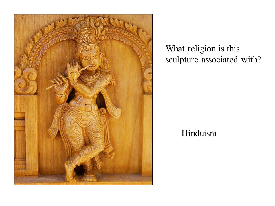 What religion is this sculpture associated with Hinduism
