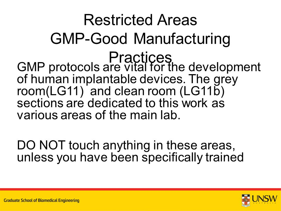 GMP protocols are vital for the development of human implantable devices.