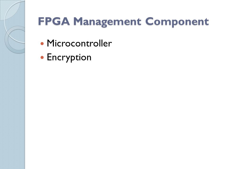 FPGA Management Component Microcontroller Encryption