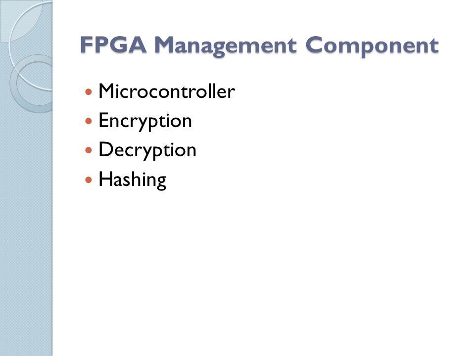 FPGA Management Component Microcontroller Encryption Decryption Hashing