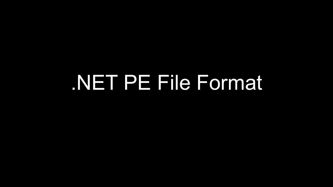 .NET PE File Format
